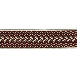 "1 1/2"" Woven Home Decor Geometric Trim Red"