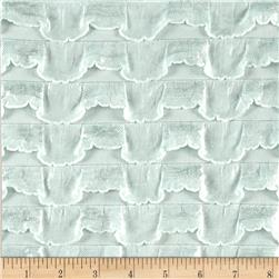 Stretch Ruffle Knit Metallic Mint