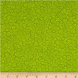 Catalina Flannel Swirls Green