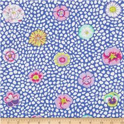 Kaffe Fassett Collective Guinea Flower Blue Fabric