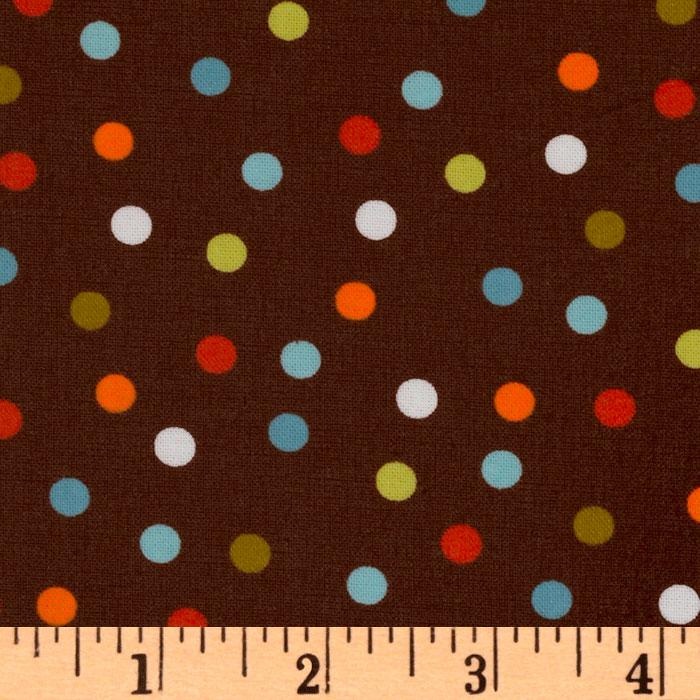 Remix Slicker Laminated Cotton Polka Dots Cocoa