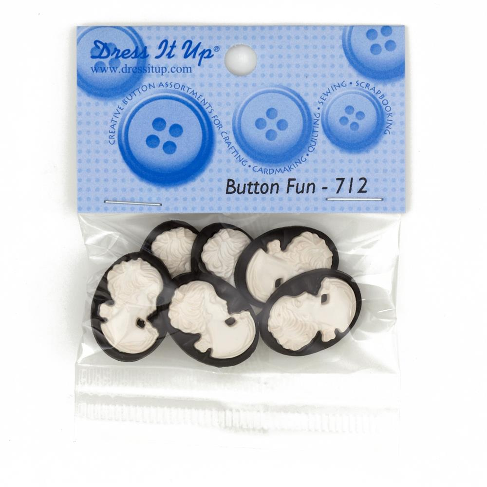 Dress It Up Embellishment Buttons  Part Cameo