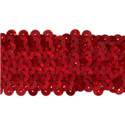 1-1/2'' Hologram Stretch Sequin Trim Red
