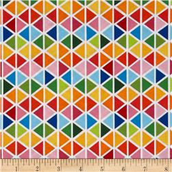 Robert Kaufman Rainbow Remix Diamond Plaid Bright