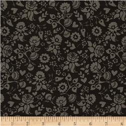 Riley Blake Lost and Found Love Floral Black