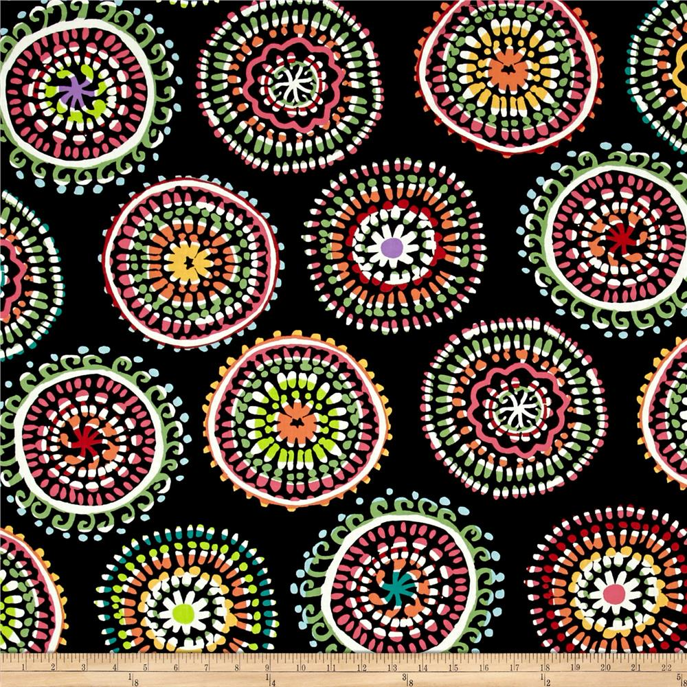 Sun-Kissed Large Mosaic Black Multi
