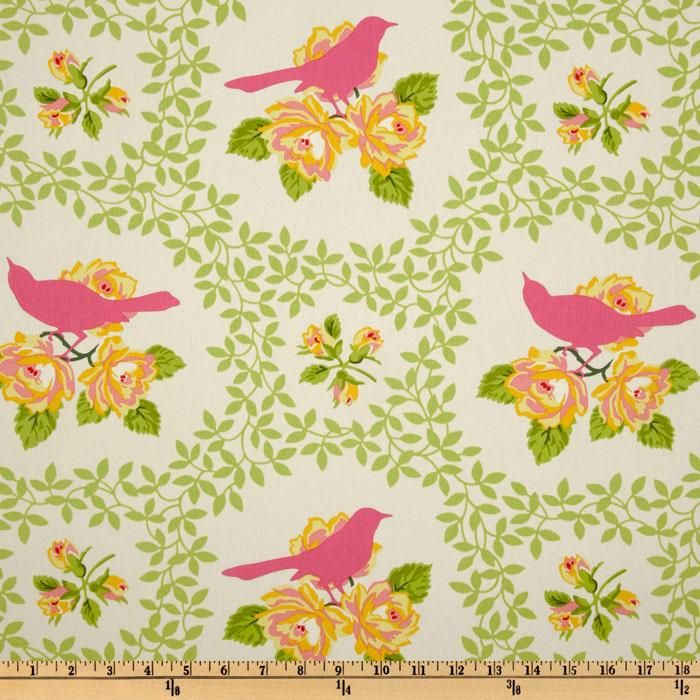 Heather Bailey Garden District Mockingbird Sateen Pink