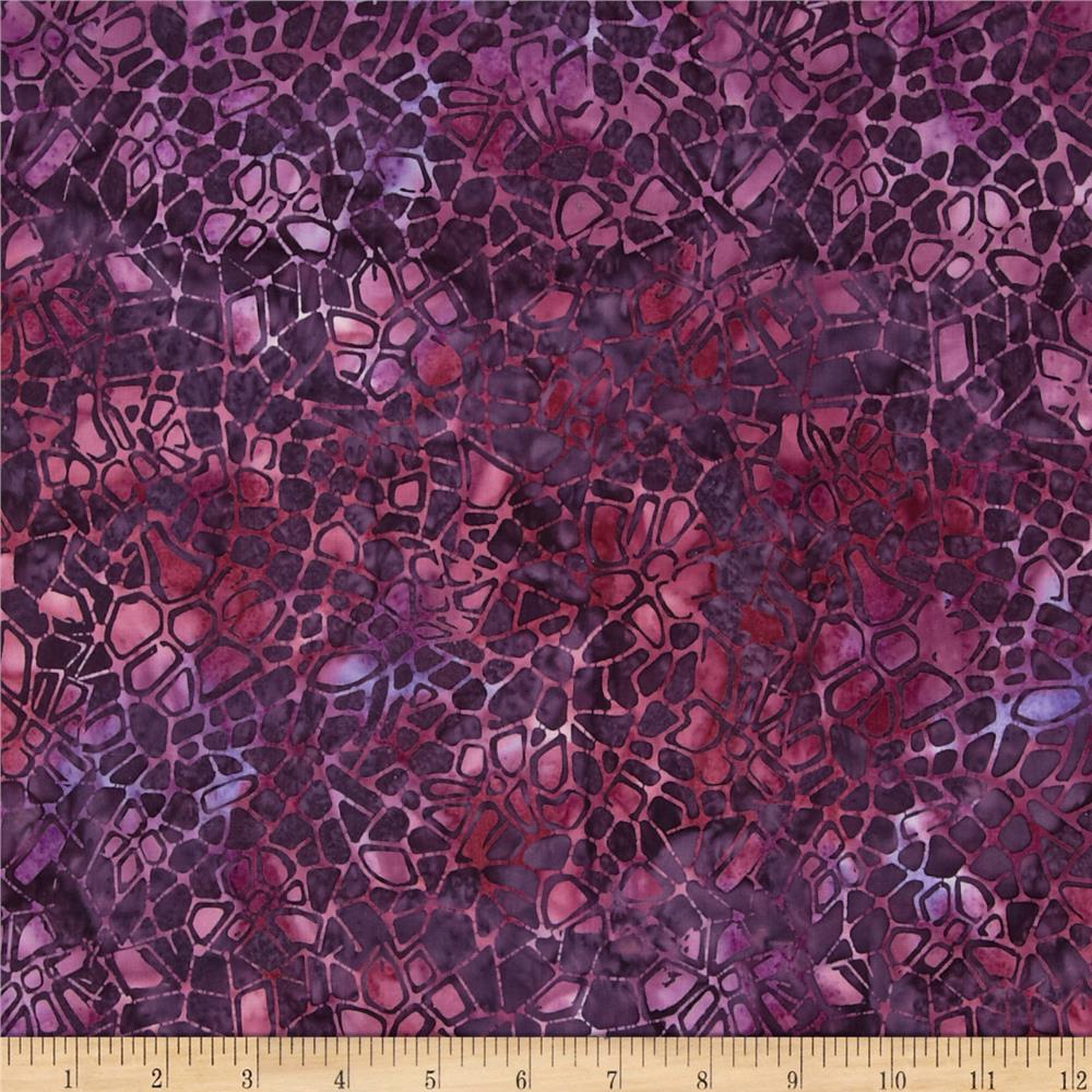 Batavian Batiks Crackle Midnight Purple