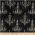 French Couture Chandeliers Black