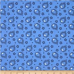 Joyful Large Paisley Blue