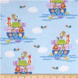 Flannel Noah's Ark Blue