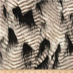 Luxury Faux Fur Feather Black/White