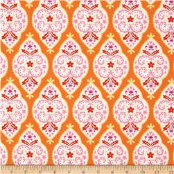 Dena Designs Sunshine Linen Blend Medallion Orange Fabric