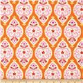 Dena Designs Sunshine Linen Blend Medallion Orange