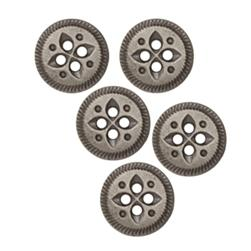 Fashion Button 5/8''  Value Pack Leaves Antique Silver