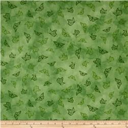 Serenity Prayer Butterfly Toile Green