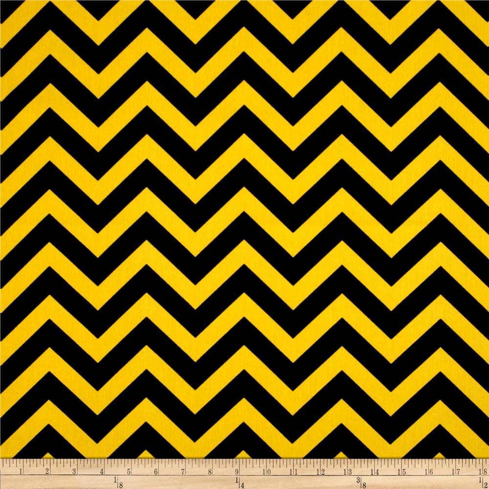 Premier Prints Zig Zag Black/Corn Yellow