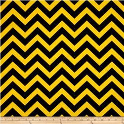 Premier Prints Zig Zag Black/Corn Yellow Fabric