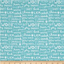 Dog Lover Words Dark Aqua