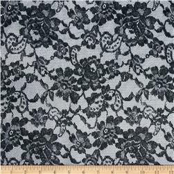 Minky Midnight Lace Black Fabric