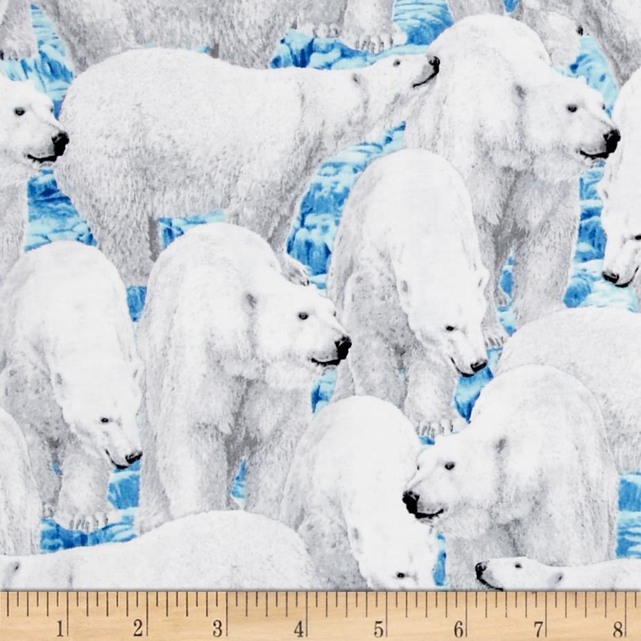 Northern Lights Polar Bears Blue
