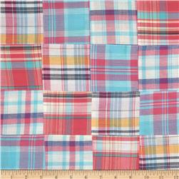 Madras Plaid Coral/Aqua/Navy/White