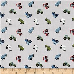 Lewis & Irene Small Things On The Move Farm Vehicles Grey