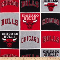 NBA Fleece Chicago Bulls Block Fabric