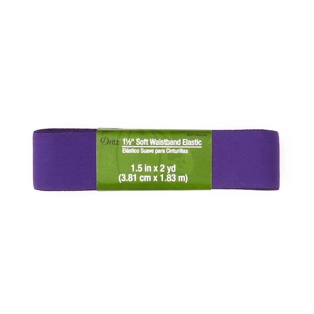 "Soft Waistband Elastic 1-1/2""X2yd-Purple"