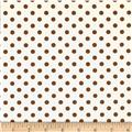 Teddy Bear Basics Polka Dot Ivory/Brown