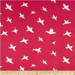 Premier Prints Bird Silhouette Candy Pink