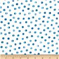 Normandy Court Tiny Dots White/Blue