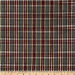 Polyester Uniform Plaid Maroon/Gray/White