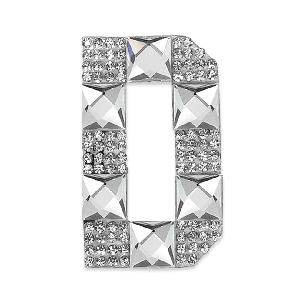 Rhinestone Applique Letter D Crystal