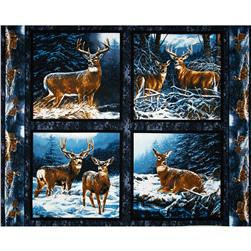 Wild Wings Wintergreen Pillow Panel Blue Fabric