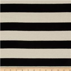 Knit Stripe Black/Ivory