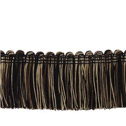 "Trend 2"" 02495 Brush Fringe Black Pepper"