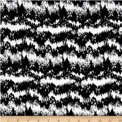 Rayon Challis Static Black/White