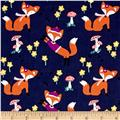 Michael Miller Fox Woods Lil' Foxy Navy