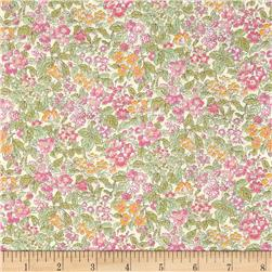 Liberty of London Tana Lawn Prince George Green/Pink/Orange