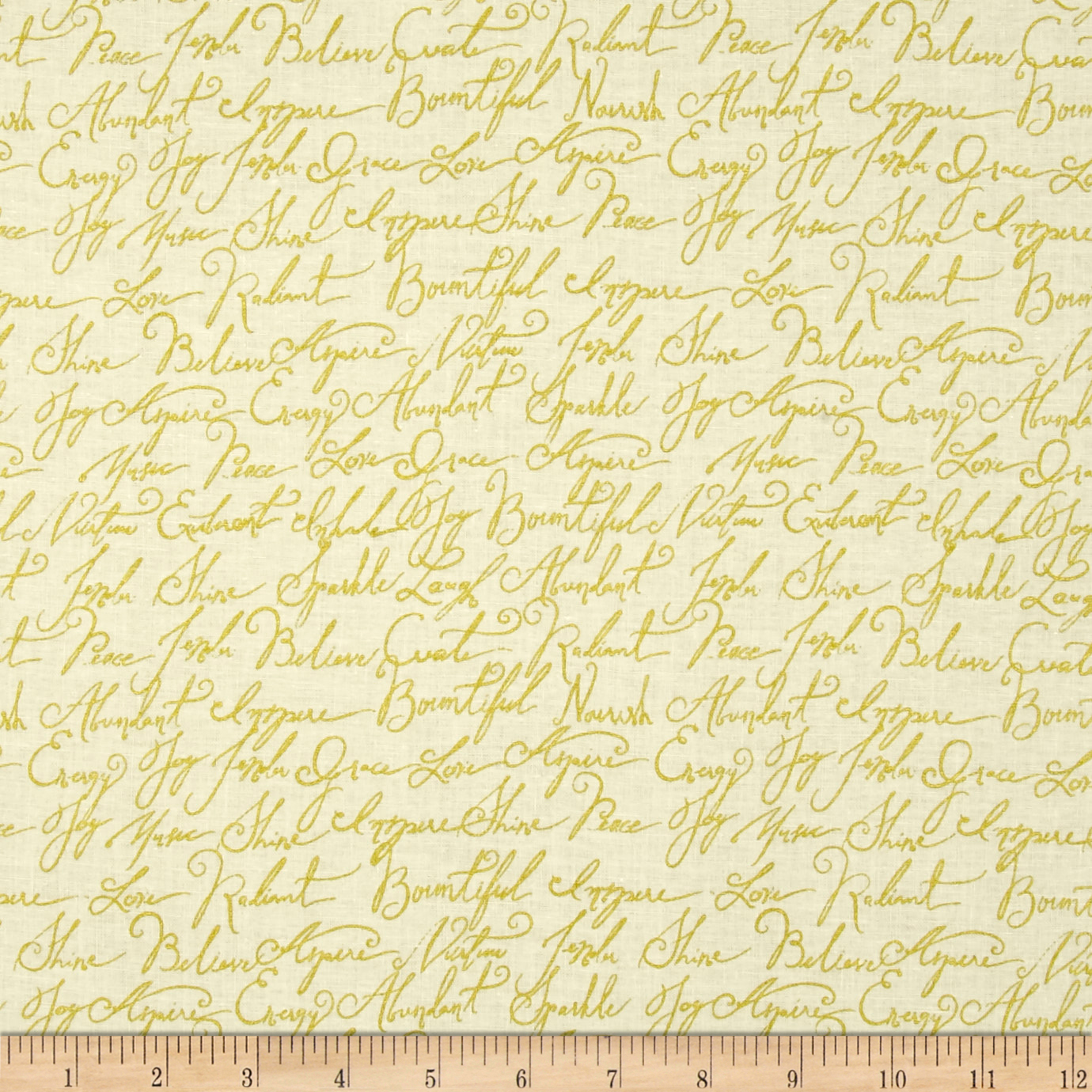 Image of ADORNit Girls Gold Calligraphy Fabric