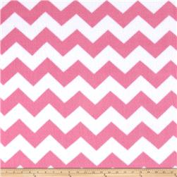 Simply Chevron Fleece Pink