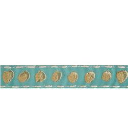 "Isabelle De Borchgrave  3/4"" Shadow Dot Trim Teal"