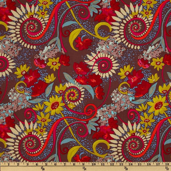 Katharine's Wheel Floral Brown