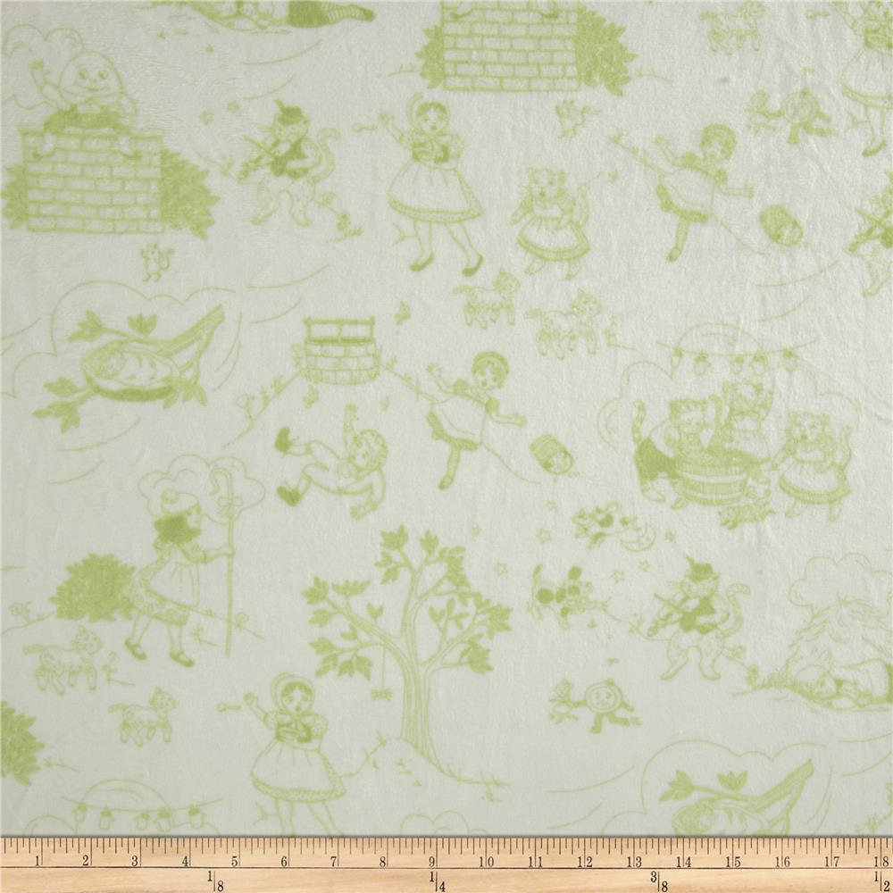 Minky Toile Cuddle White/Sage