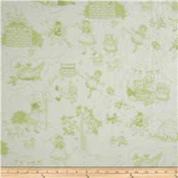 Minky Toile Cuddle White/Sage Fabric