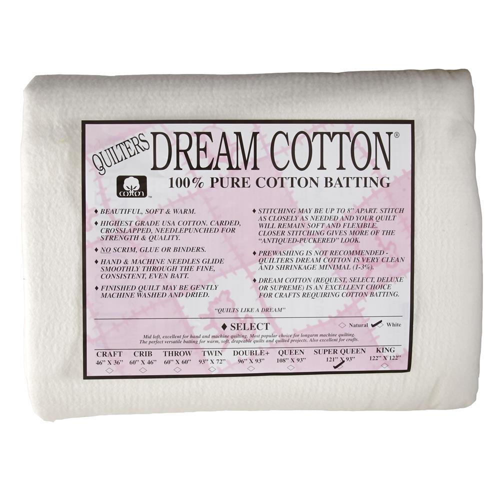 Quilter's Dream Natural Cotton White Select Batting (121
