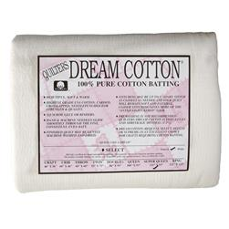 "Quilter's Dream Natural Cotton White Select Batting (120"" x 93"") Super Queen"