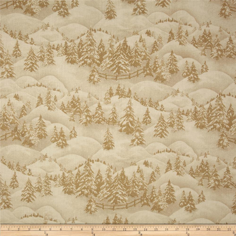 Winter Pines Trees Cream
