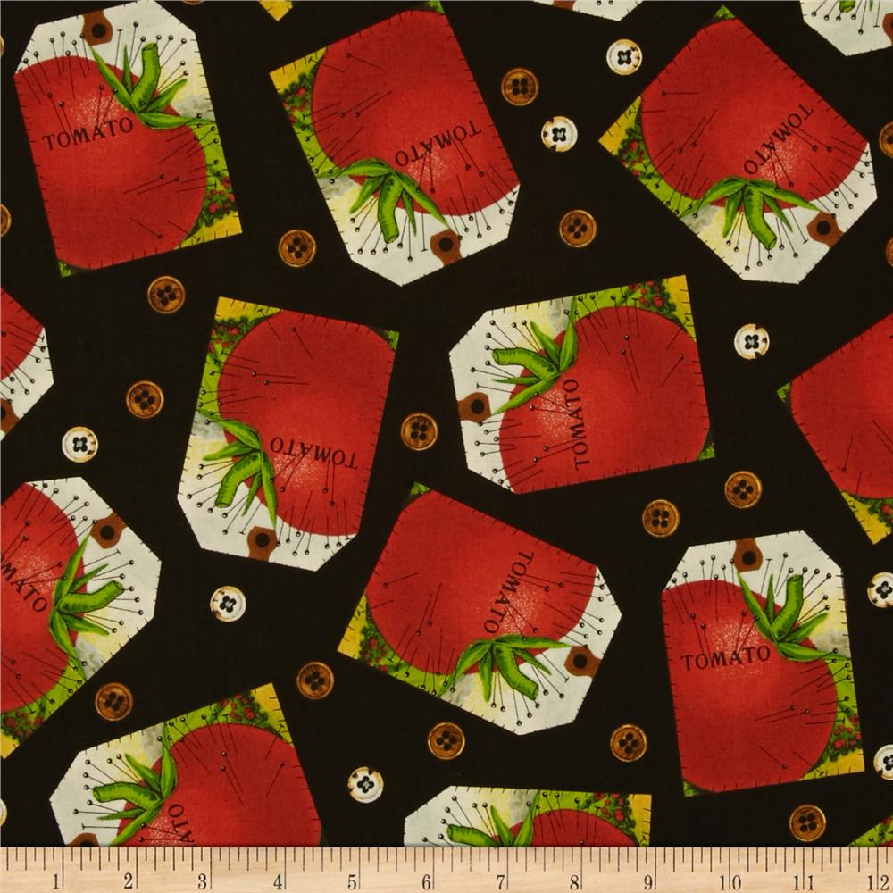 Sewing seeds ii tomato tag patch black discount designer for Cheap sewing fabric